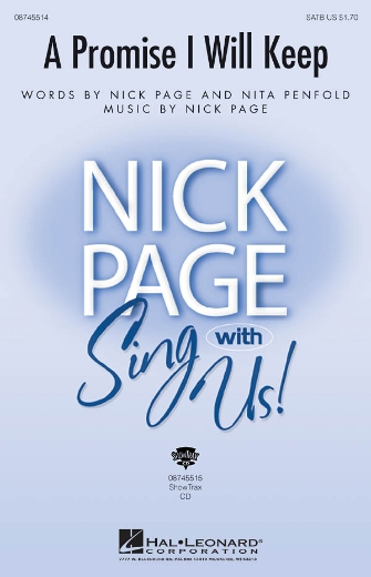 A Promise I Will Keep : SATB : Nick Page : Nick Page : Songbook : 08745514 : 884088069872