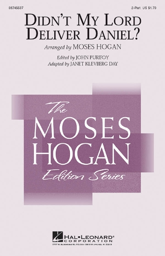 Didn't My Lord Deliver Daniel : 2-Part : Moses Hogan : Sheet Music : 08745537 : 884088070847
