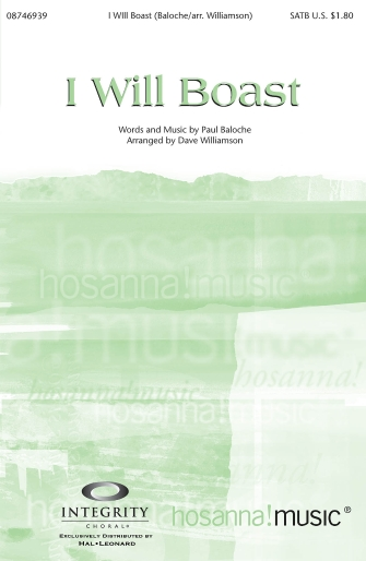Product Cover for I Will Boast