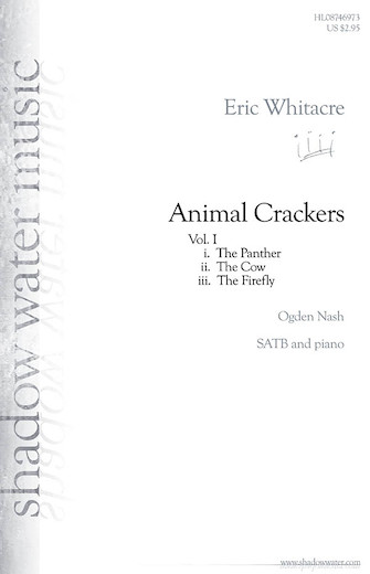 The Panther : SATB : Eric Whitacre : Sheet Music : 08746973 : 884088140229