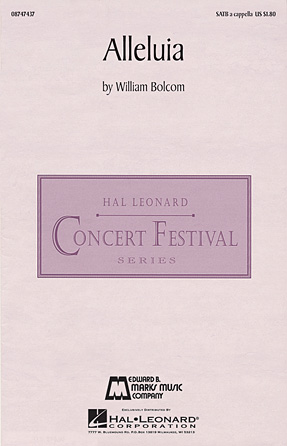 Alleluia : SATB : William Bolcom : William Bolcom : Sheet Music : 08747437 : 884088205270