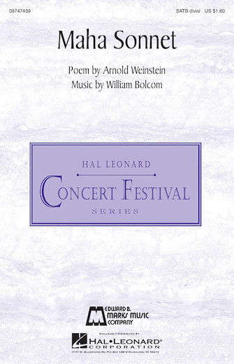Maha Sonnet : SATB divisi : William Bolcom : William Bolcom : Sheet Music : 08747439 : 884088205294