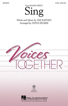 Sing : 2-Part : Steve Zegree : Sesame Street : Sheet Music : 08748073 : 884088213978