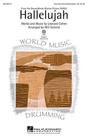 Hallelujah : 4 Part : Will Schmid : Sheet Music : 08748210 : 884088216900