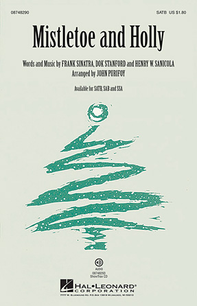 Mistletoe and Holly : SATB : John Purifoy : Frank Sinatra : Sheet Music : 08748290 : 884088218942