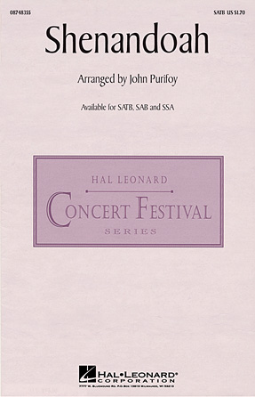 Shenandoah : SATB : John Purifoy : Sheet Music : 08748355 : 884088220334