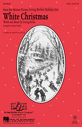 White Christmas : SATB : Audrey Snyder : Irving Berlin : The Drifters : Sheet Music : 08748494 : 884088235697