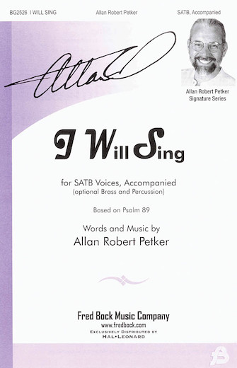 Product Cover for I Will Sing