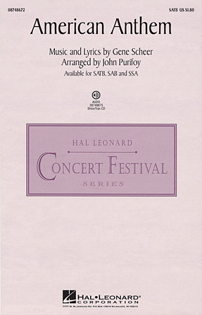 American Anthem : SATB : John Purifoy : Sheet Music : 08748672 : 884088238551
