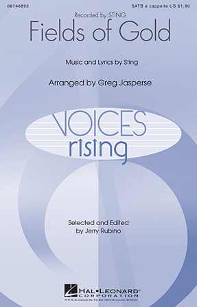Fields of Gold : SATB divisi : Greg Jasperse : Sting : Sheet Music : 08748893 : 884088242930