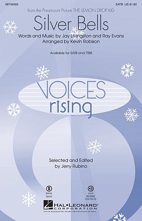 Silver Bells : SATB : Kevin Robison : Sheet Music : 08749393 : 884088275723