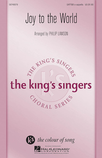 Joy to the World : SATTBB : Philip Lawson : George Frideric Handel : King's Singers : Sheet Music : 08749579 : 884088310349