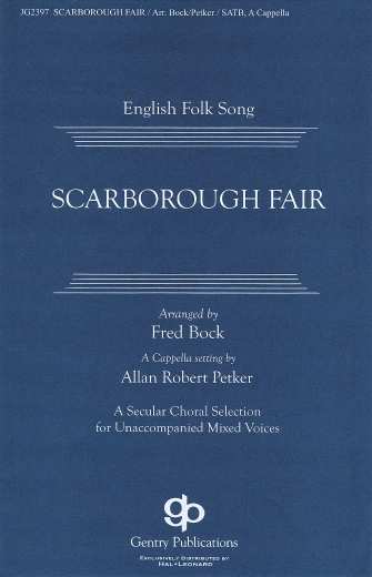 Scarborough Fair/Canticle : SSAATTBB : Fred Bock : Sheet Music : 08749937 : 884088352202