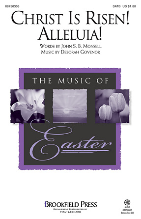 Christ Is Risen! Alleluia! : SATB : Deborah Governor : Deborah Governor : Sheet Music : 08750308 : 884088412456
