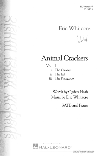 The Canary : SATB : Eric Whitacre : Sheet Music : 08751016 : 884088474386