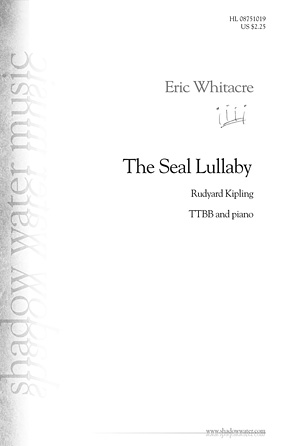 The Seal Lullaby : TTBB : Eric Whitacre : Eric Whitacre : Sheet Music : 08751019 : 884088474416