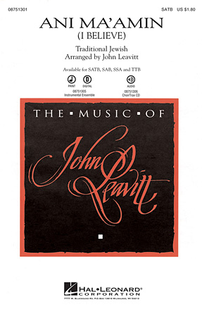 Ani Ma'amin : SATB : John Leavitt : Sheet Music : 08751301 : 884088483012
