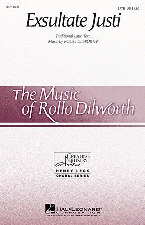Exsultate Justi : 2-Part : Rollo Dilworth : Sheet Music : 08751309 : 884088483098