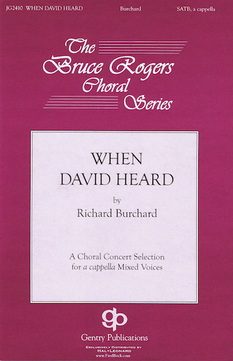 When David Heard : SATB : Richard Burchard : Richard Burchard : Sheet Music : 08751664 : 884088494179