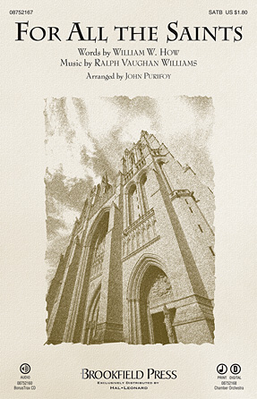 For All the Saints : SATB : John Purifoy : Ralph Vaughan Williams : Sheet Music : 08752167 : 884088518370
