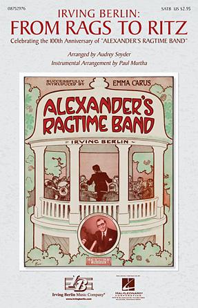 Irving Berlin: From Rags to Ritz : SATB : Paul Murtha : Irving Berlin : Sheet Music : 08752976 : 884088558253