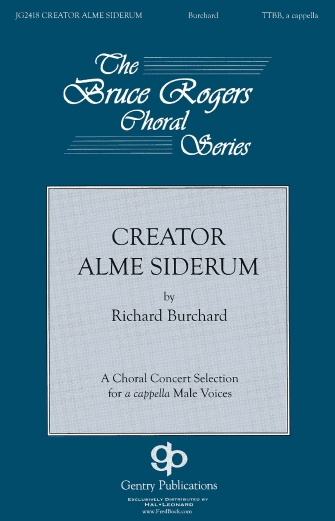 Creator Alme Siderum : SATB : Richard Burchard : Richard Burchard : Sheet Music : 08753146 : 884088565725