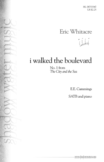 i walked the boulevard : SATB : Eric Whitacre : Eric Whitacre : Sheet Music : 08753347 : 884088578367