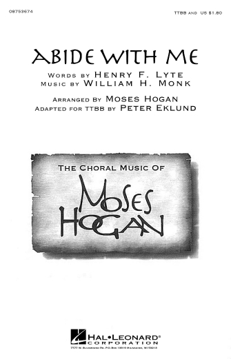 Abide with Me : TTBB : Peter Eklund : Sheet Music : 08753674 : 884088592479