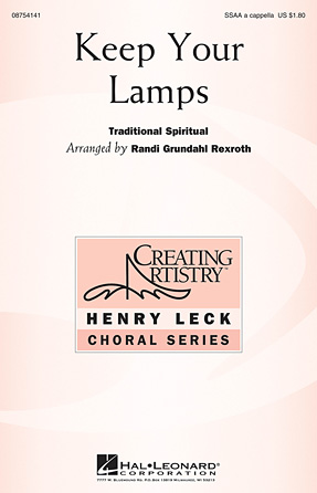 Keep Your Lamps : SSAA : Randi Grundahl Rexroth : Sheet Music : 08754141 : 884088628680