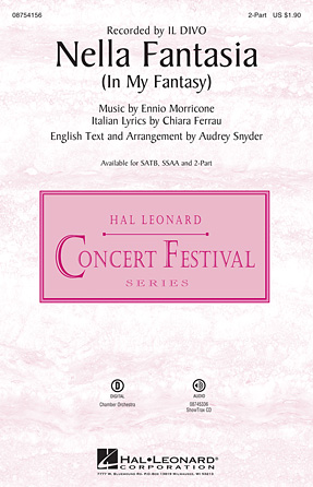 Nella Fantasia : 2-Part : Audrey Snyder : Sheet Music : 08754156 : 884088629168