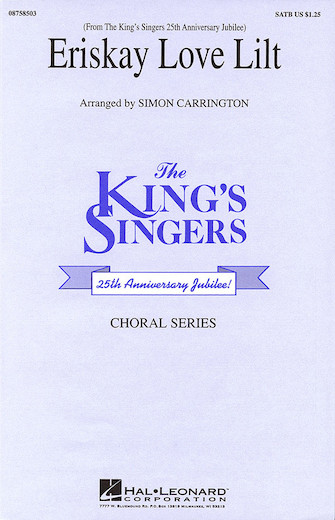 Eriskay Love Lilt : SATB : Simon Carrington : King's Singers : Sheet Music : 08758503 : 073999585032