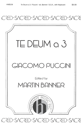Product Cover for Te Deum A 3
