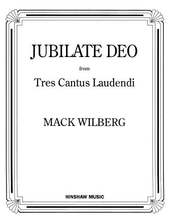Jubilate Deo : SSAATTBB : Mack Wilberg : Mack Wilberg : Sheet Music : 08763483 : 728215020438