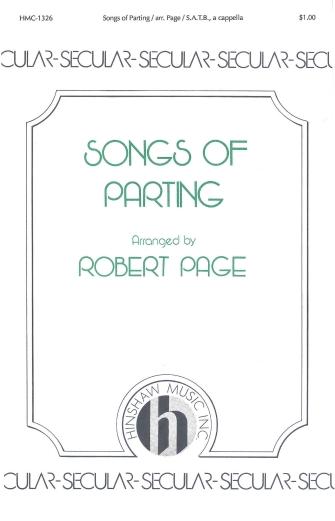 Songs of Parting (Three Traditional German) : SATB divisi : Robert Page : Sheet Music : 08763613 : 728215023491
