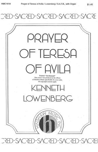 Product Cover for Prayer Of Teresa Of Avila