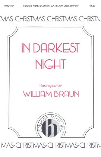In Darkest Night : SATB : William Braun : Gustav Holst : Sheet Music : 08763999 : 728215029592