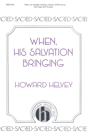 Product Cover for When, His Salvation Bringing