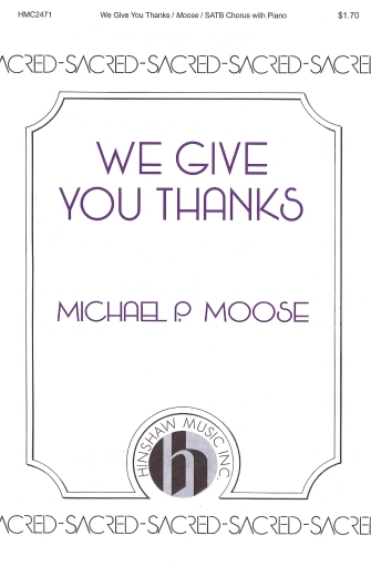 Product Cover for We Give You Thanks