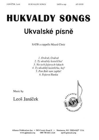 Hukvaldy Songs : SATB : Leos Janacek : Sheet Music : 08770923 : 649325101100