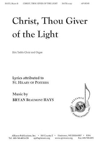 Product Cover for Christ, Thou Giver of the Light