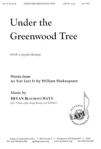 Product Cover for Under the Greenwood Tree