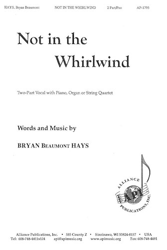 Product Cover for Not In the Whirlwind