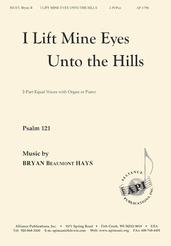 Product Cover for I Lift Mine Eyes Unto the Hills