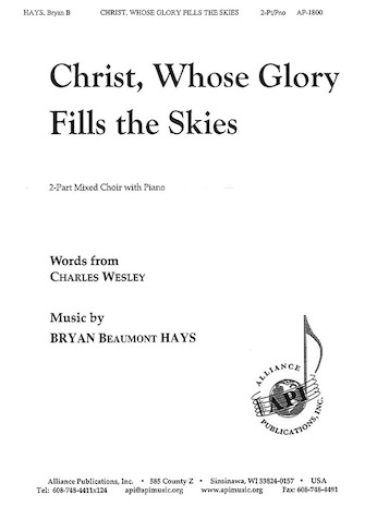 Product Cover for Christ, Whose Glory Fills the Skies