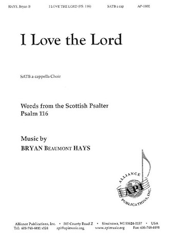 Product Cover for I Love the Lord