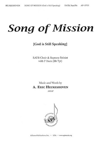 Product Cover for Song of Mission