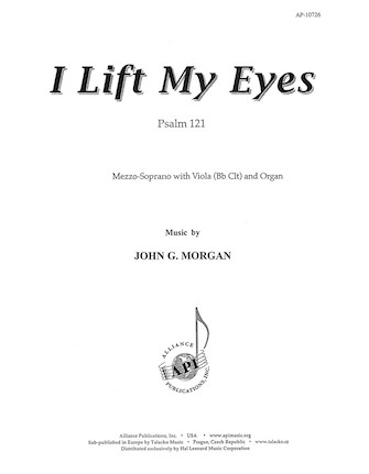 Product Cover for I Lift My Eyes; Psalm 121