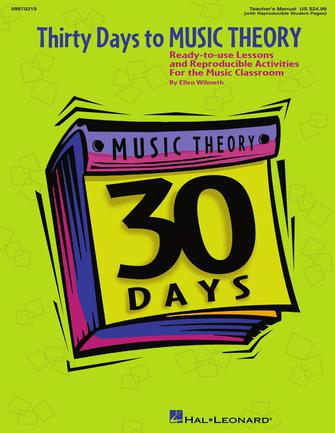 Product Cover for Thirty Days to Music Theory (Classroom Resource)
