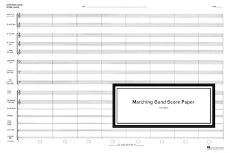 Product Cover for Marching Band Score Paper