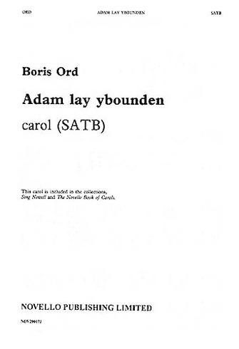 Product Cover for Adam Lay Ybounden